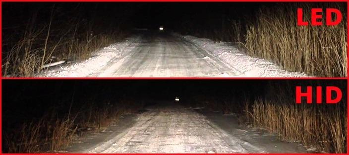 LED vs HID Headlights Demo