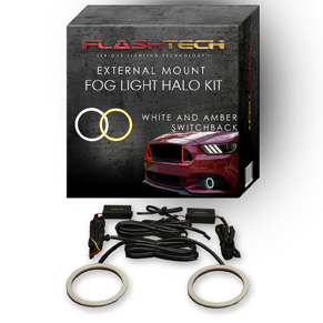 Ford Fiesta External Waterproof White & Amber Switchback LED halo Fog Light Kit 2014-2015