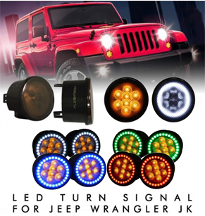 Jeep JK Smoked Lens LED Turn Signal Assembly