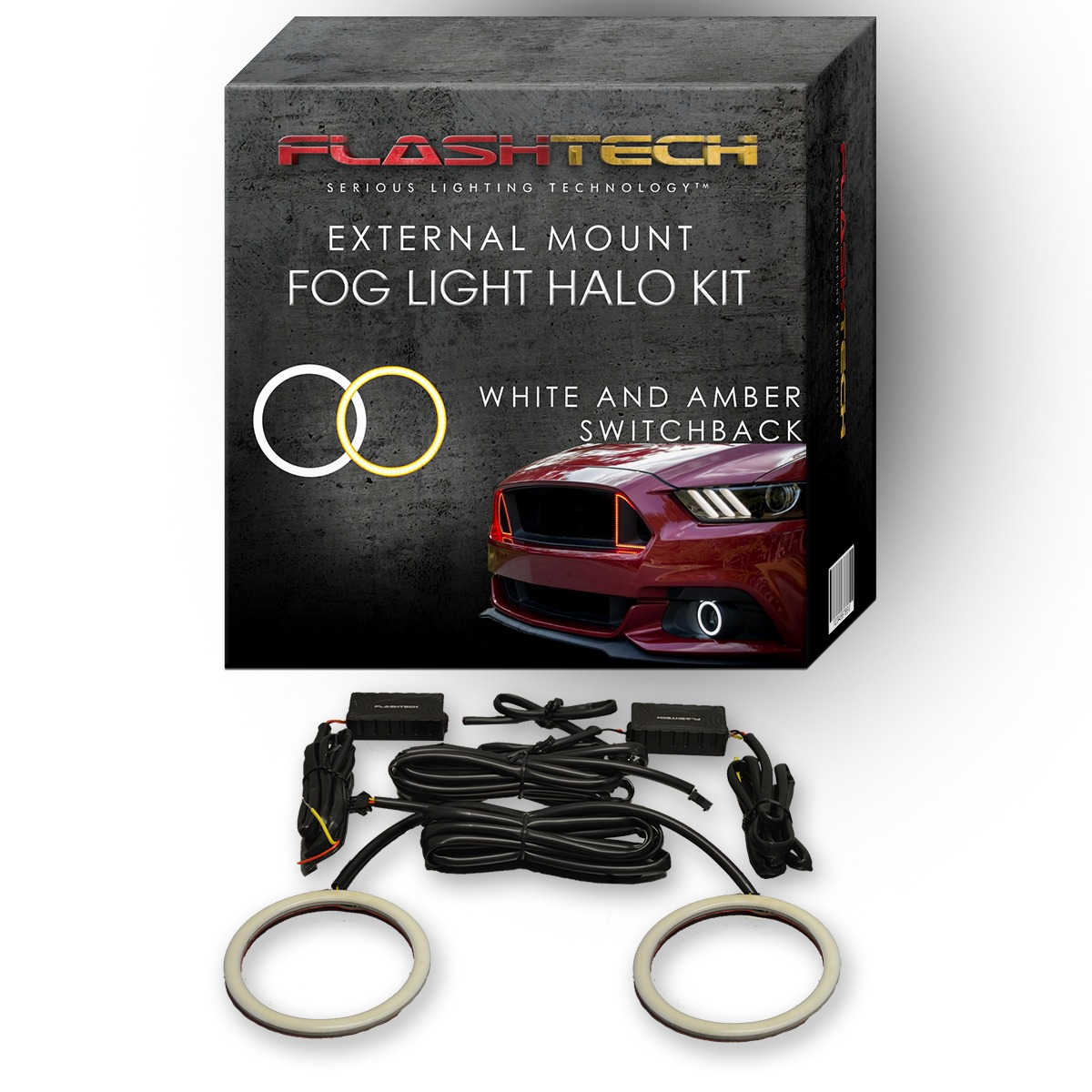Chevrolet Camaro External Waterproof White & Amber Switchback LED halo Fog Light Kit 2010-2013