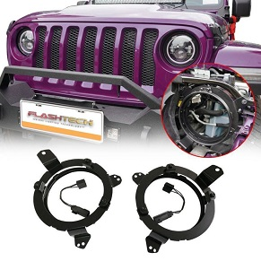 "JEEP WRANGLER JL 7"" HEADLIGHT MOUNTING BRACKET"