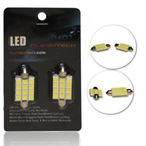 LED Interior SMD Bulbs - 12 5050 LED - 44mm