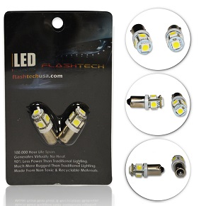 LED Interior SMD Bulbs - 5 5050 LED - BA9s