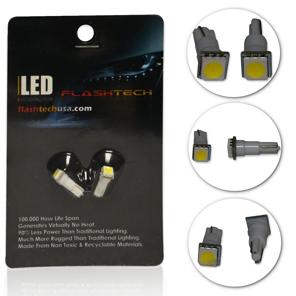 LED Interior SMD Bulbs - 1 5050 LED - T5